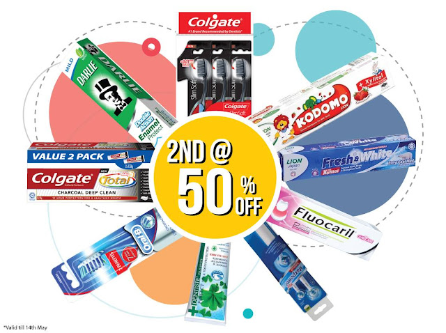 Guardian Malaysia 2nd Item Half Price Discount