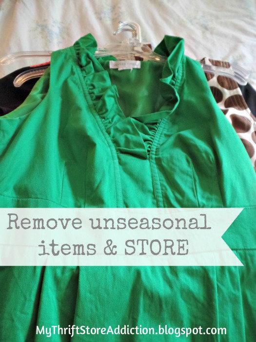 Store unseasonal items