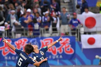 japan female footballers celebrate winning women world cup 2018