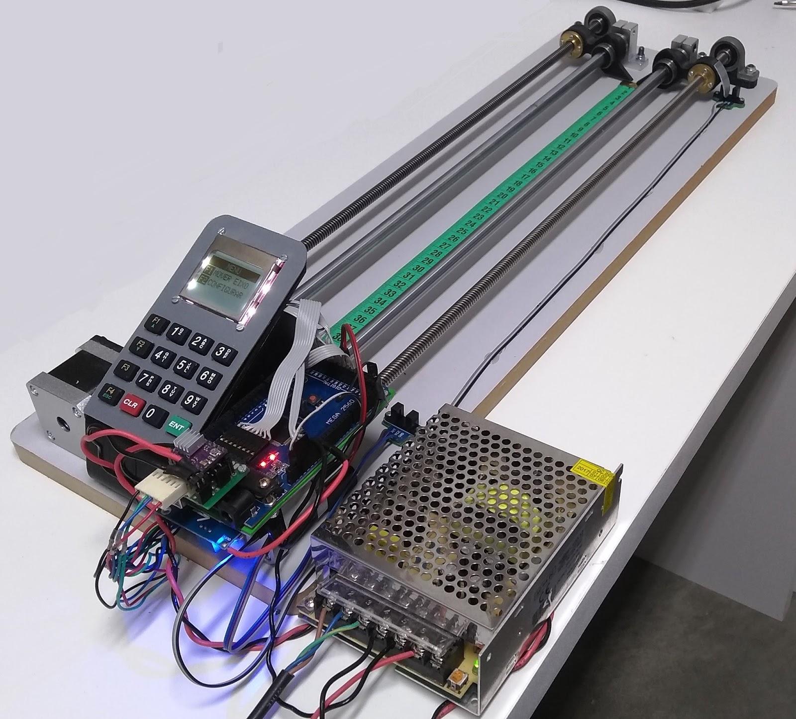c1595001529 Nossa montagem de hoje é muito parecida com a do vídeo Arduino Uno com Fuso  e Motor de Passo. O que precisei modificar  Desta vez escolhei um Arduino  Mega ...