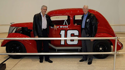 Leonard and Glen wood with one of their early cars. #NASCAR