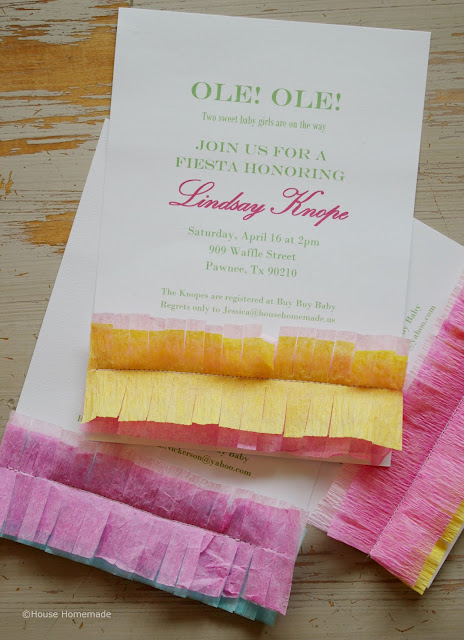 fiesta shower invitation tutorial