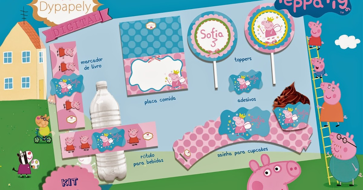 Dypapely Design Kit Festa Para Imprimir Peppa Pig