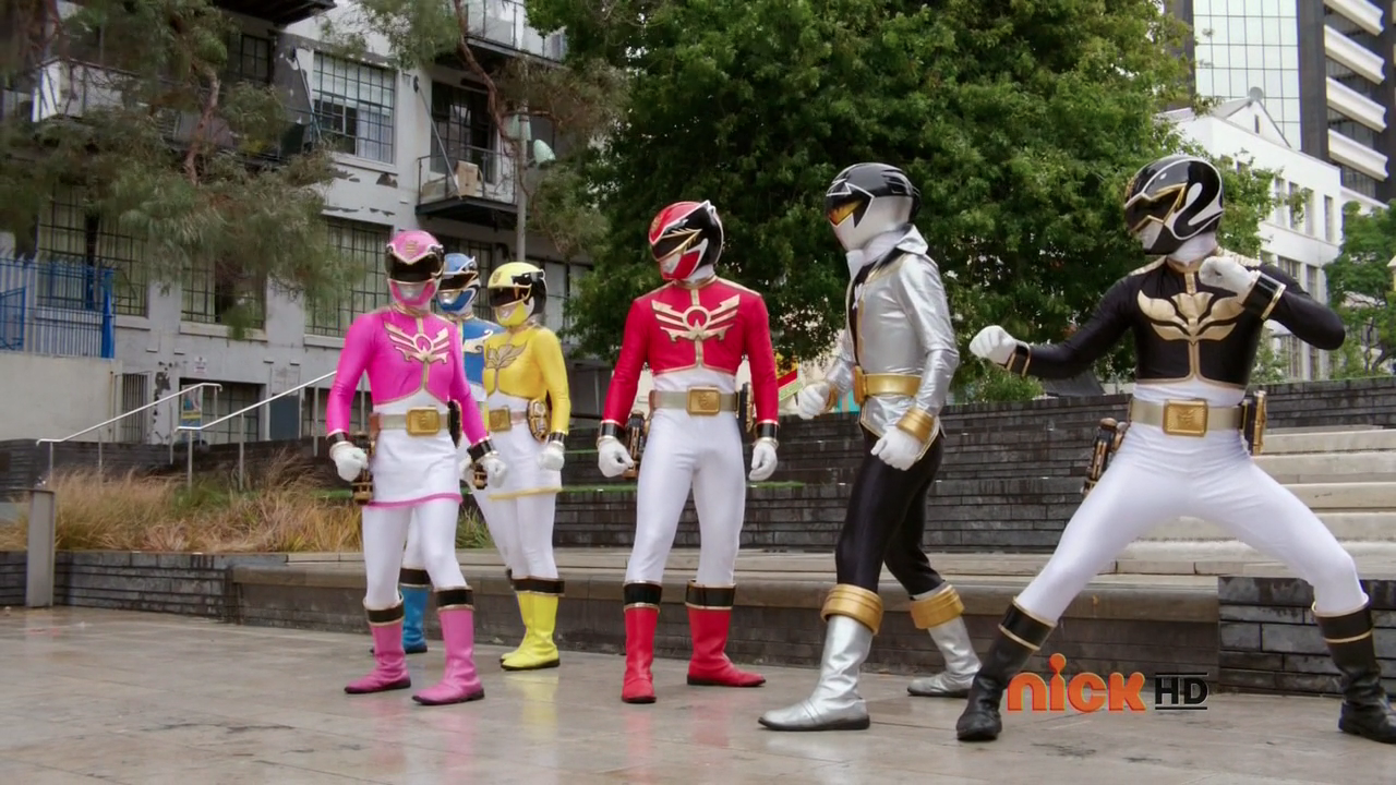 Megaforce suits with Super Megaforce Silver