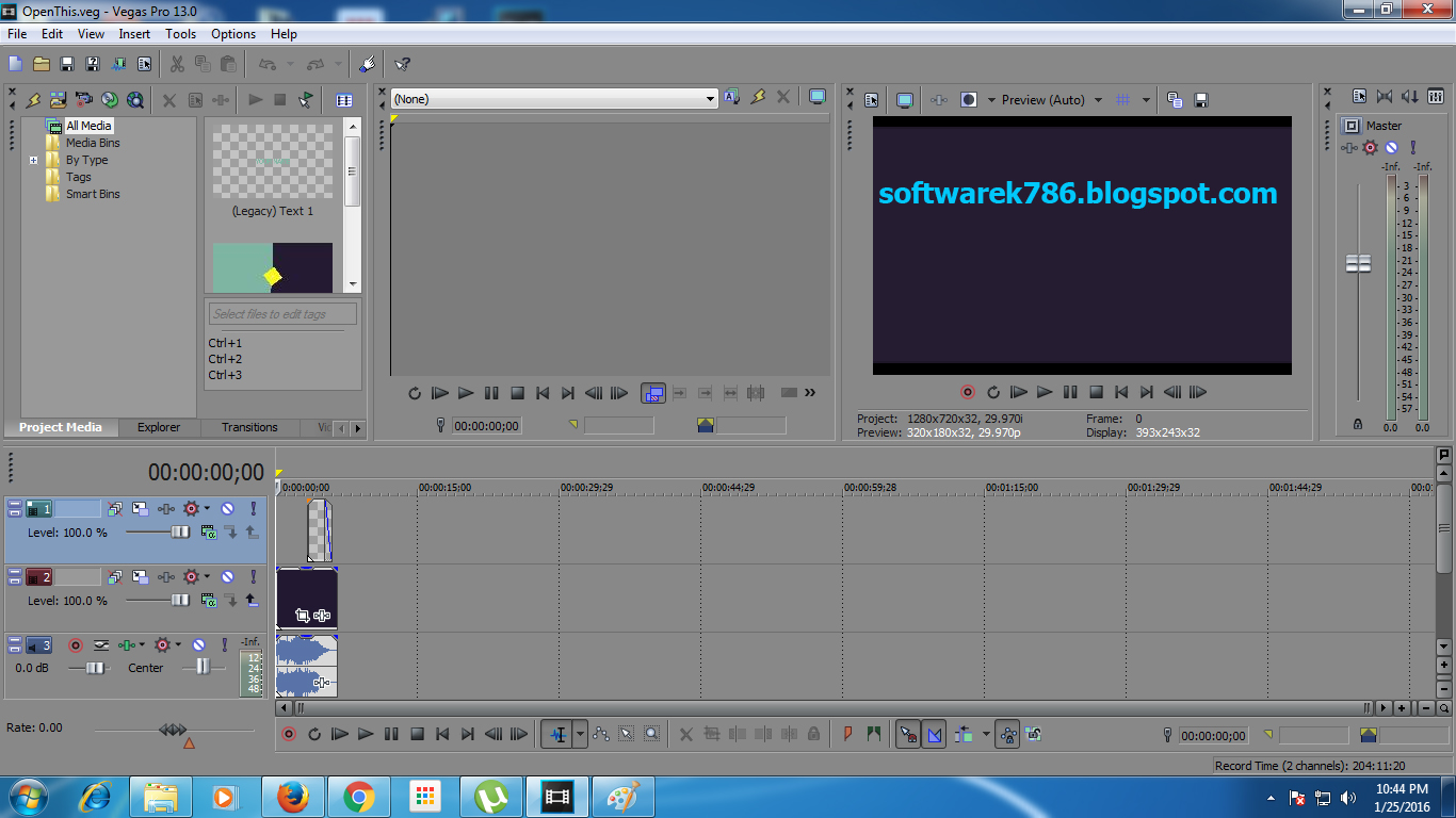 Sony vegas 7. 0 tutorial migające elementy (blinking element.