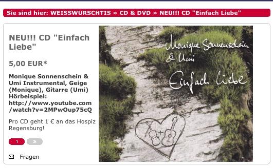 Monique Sonnenscheid CD Einfach Liebe