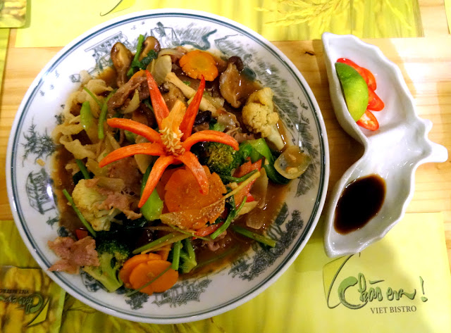 Stir fry meat vegetable - Chao Em! Viet Bistro in Ben Thanh, Ho Chi Minh City