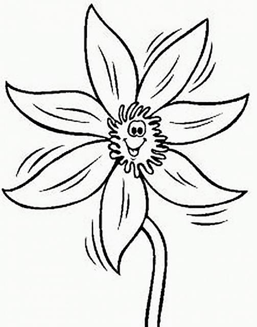 Gambar Mewarnai Bunga - 4