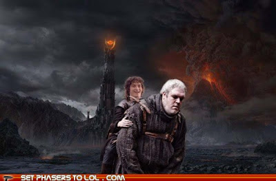 Meme de humor sobre El señor de los anillos y Juego de tronos