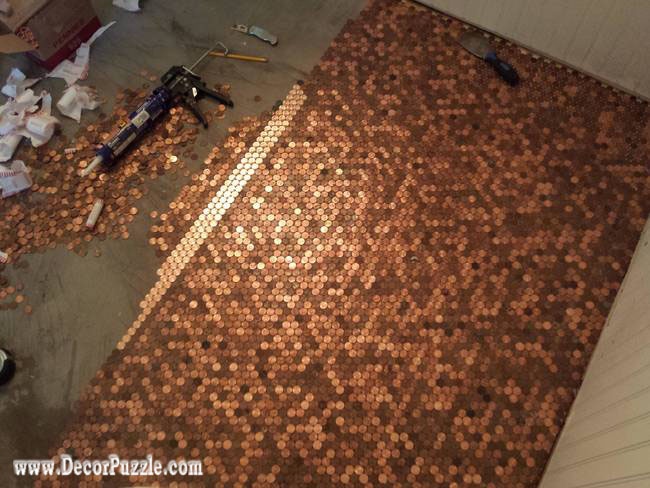 Top Tips To Install Penny Floor And Copper Penny Tile Floor - Materials for tile floor installation