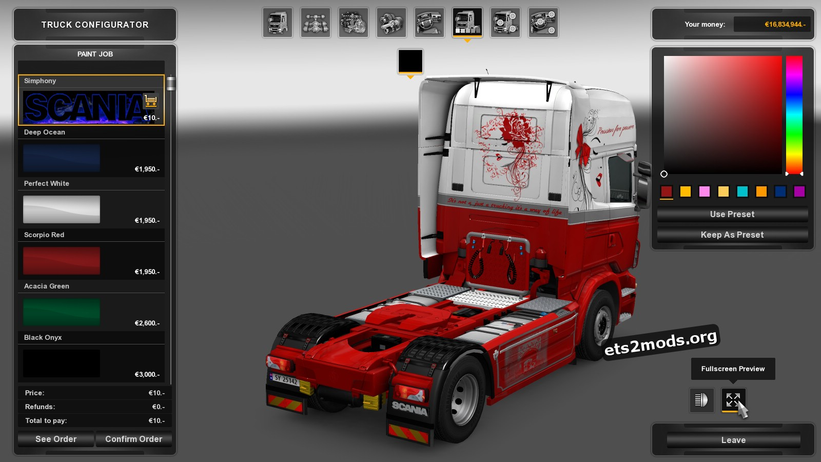 Scania RJL Simphony Skin