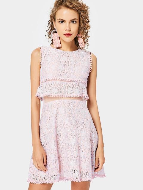zaful pastel lace dresses zaful dresses fashion moda shopping on line abiti zaful abiti inverno 2018