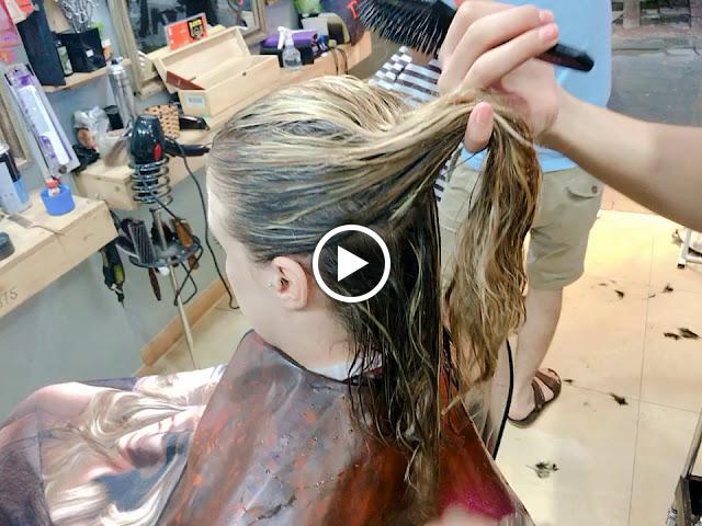 Nhuộm tóc Vàng Trắng BLOND Highlight | đẹp không góc chết | Korigami Hà Nội | ...