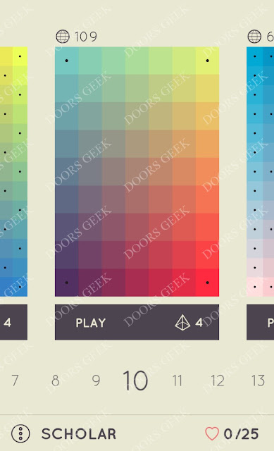 I Love Hue Scholar Level 10 Solution, Cheats, Walkthrough