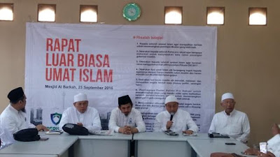 Tokoh dan Ulama Gelar Rapat Luar Biasa Sikapi Terbelahnya Calon Gubernur Muslim