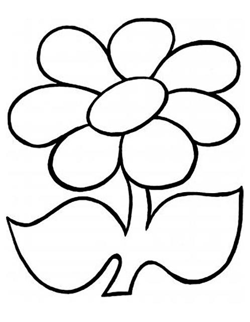 Gambar Mewarnai Bunga - 10