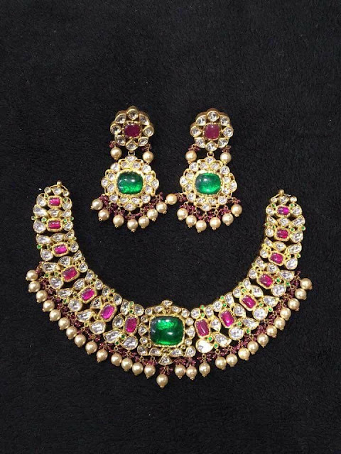 Polki and Kundan sets with sea pearls