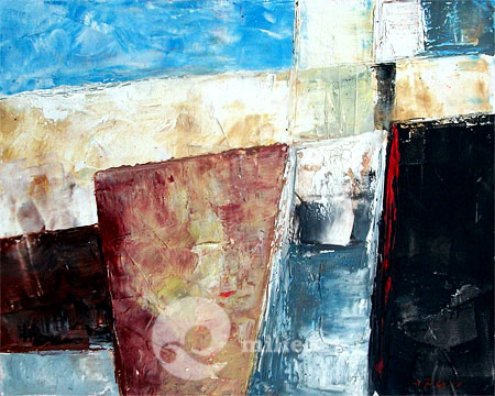 Lukisan Abstrak Modern Minimalis 90x70cm MA-054