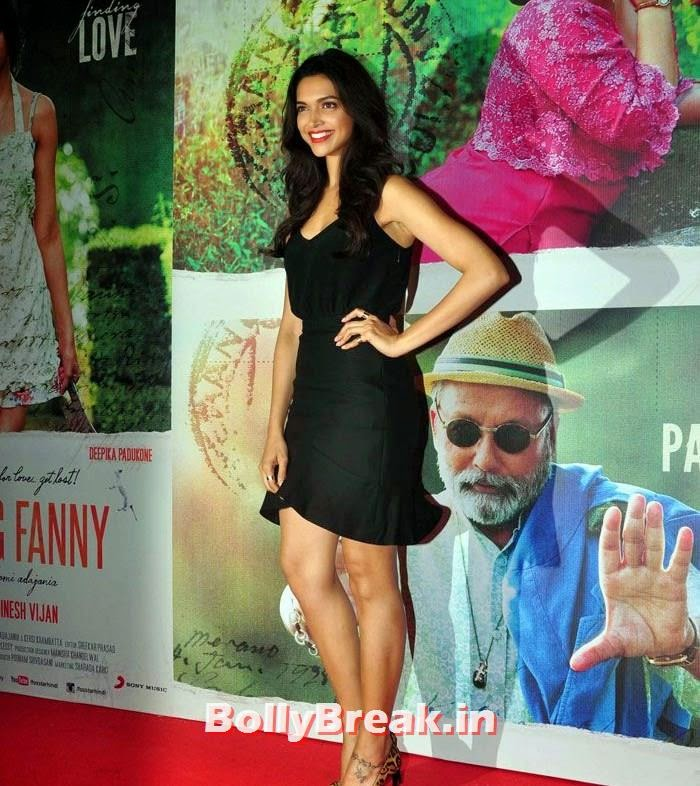 Deepika Padukone, Deepika, arjun, Hrithik Pics from Finding Fanny Movie Screening