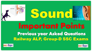 Sound Important Points Study Notes previous year asked questions