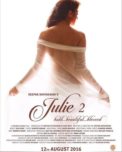 Raai Laxmi in the first look poster of the movie 'Julie 2'.