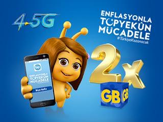 Turkcell İnternet Paketini İkiye Katla