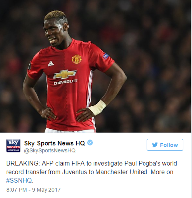 Paul Pogba's transfer to Manchester United to be investigated by FIFA following a new document leak