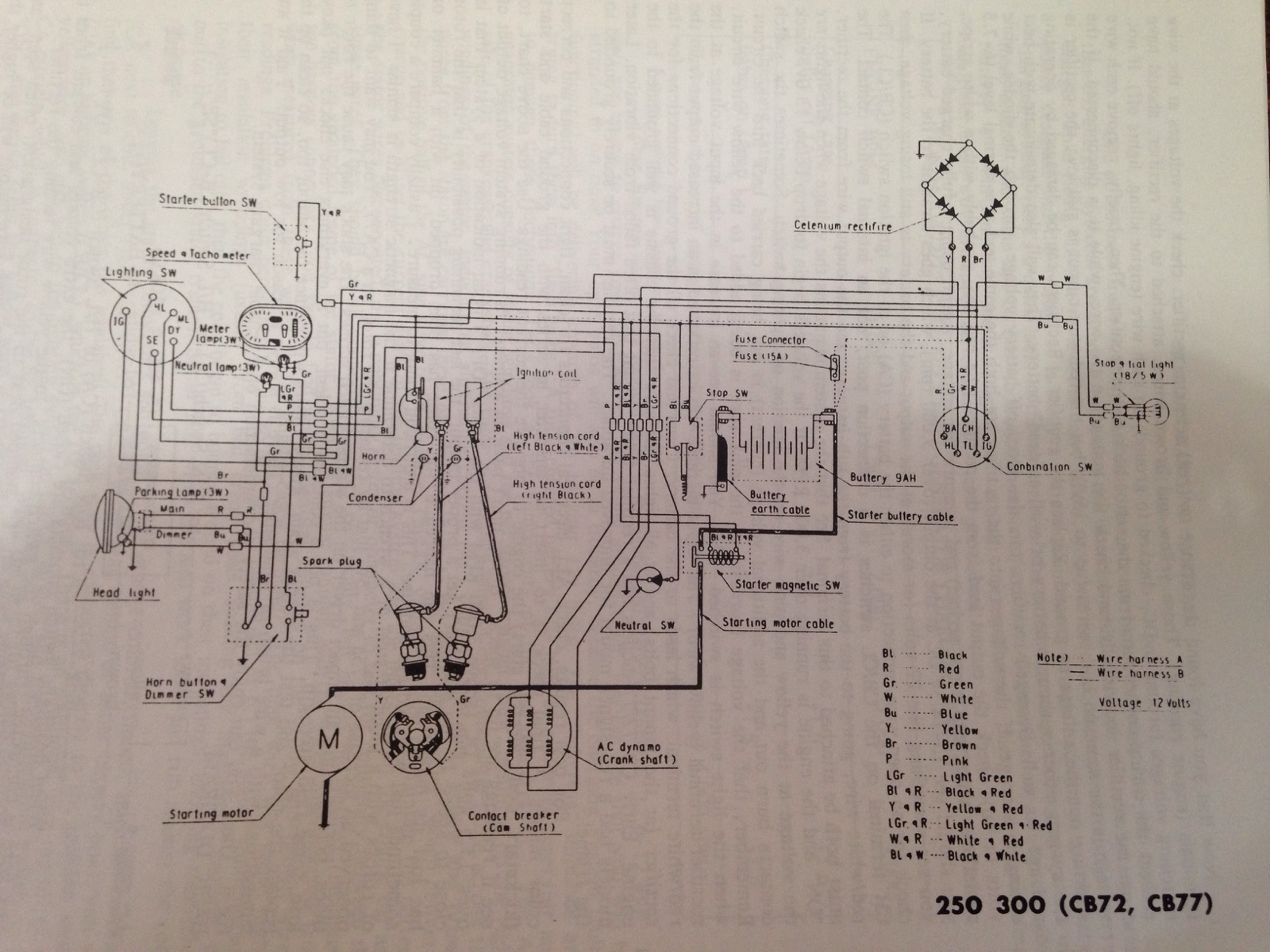 1978 honda xl175 wiring diagram 1976 honda xl175 wiring