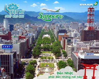 Vé máy bay đi Sapporo Nhật Bản hãng EVA Air