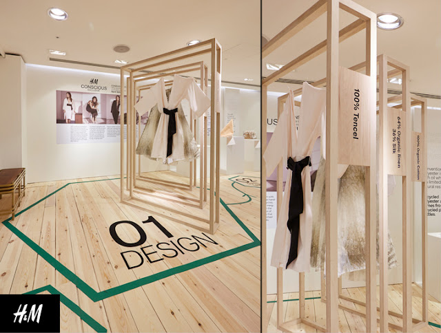 Green Pear Diaries, interiorismo, pop up store, HM, HM Conscious Lounge, Londres