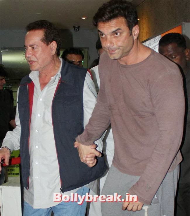 Salim Khan and Sohail Khan, Bollywood Celebs at Jai Ho Special Screening