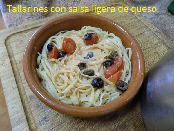Tallarines con salsa ligera de queso