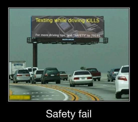 Texting while driving kills.  For more tips. text SAFETY to 79191