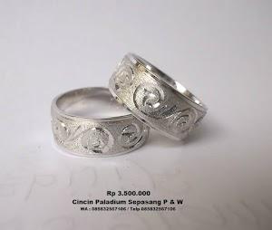 Cincin tunangan Paladium Rp.3.700.000