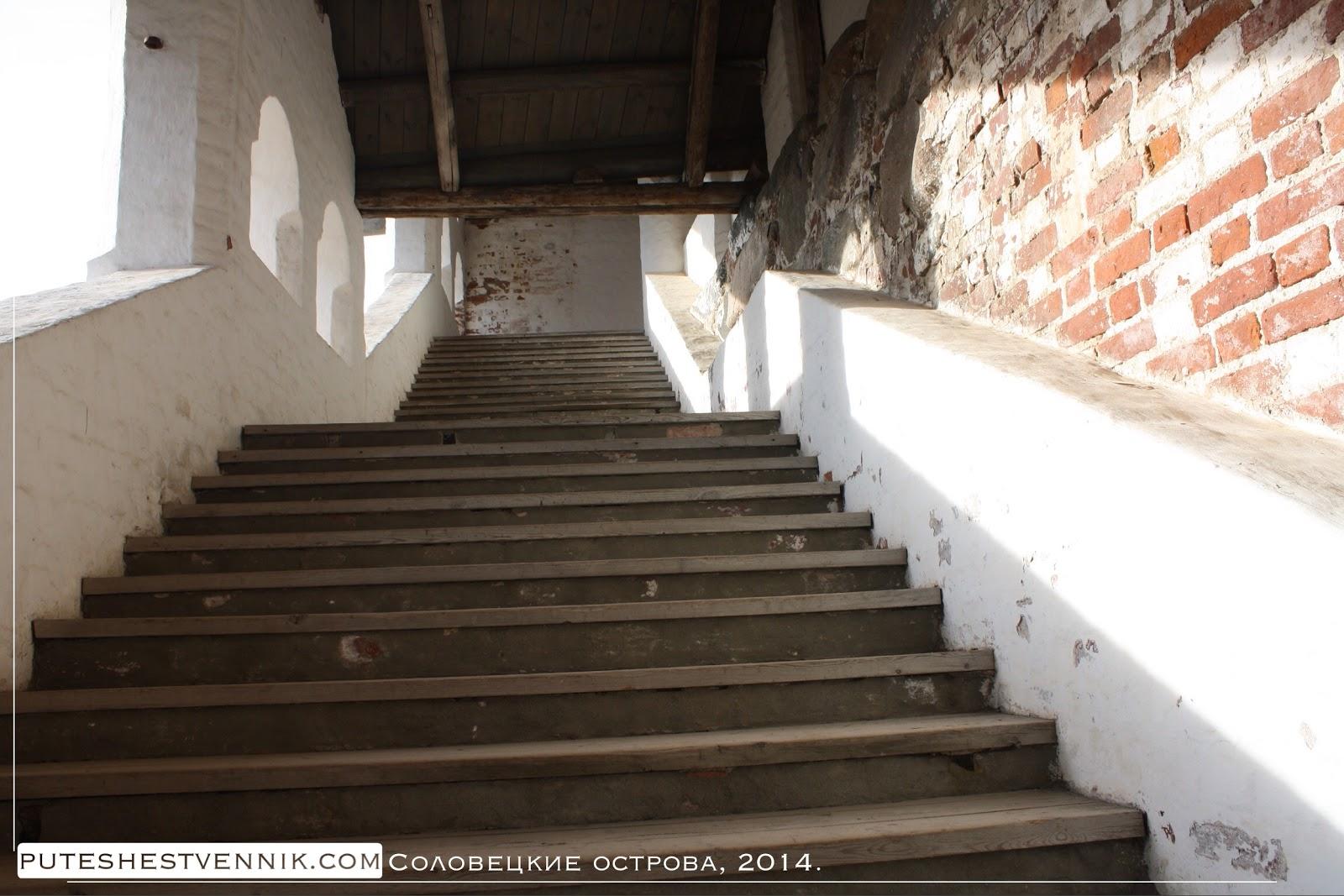 Ступени лестницы Соловецкого монастыря
