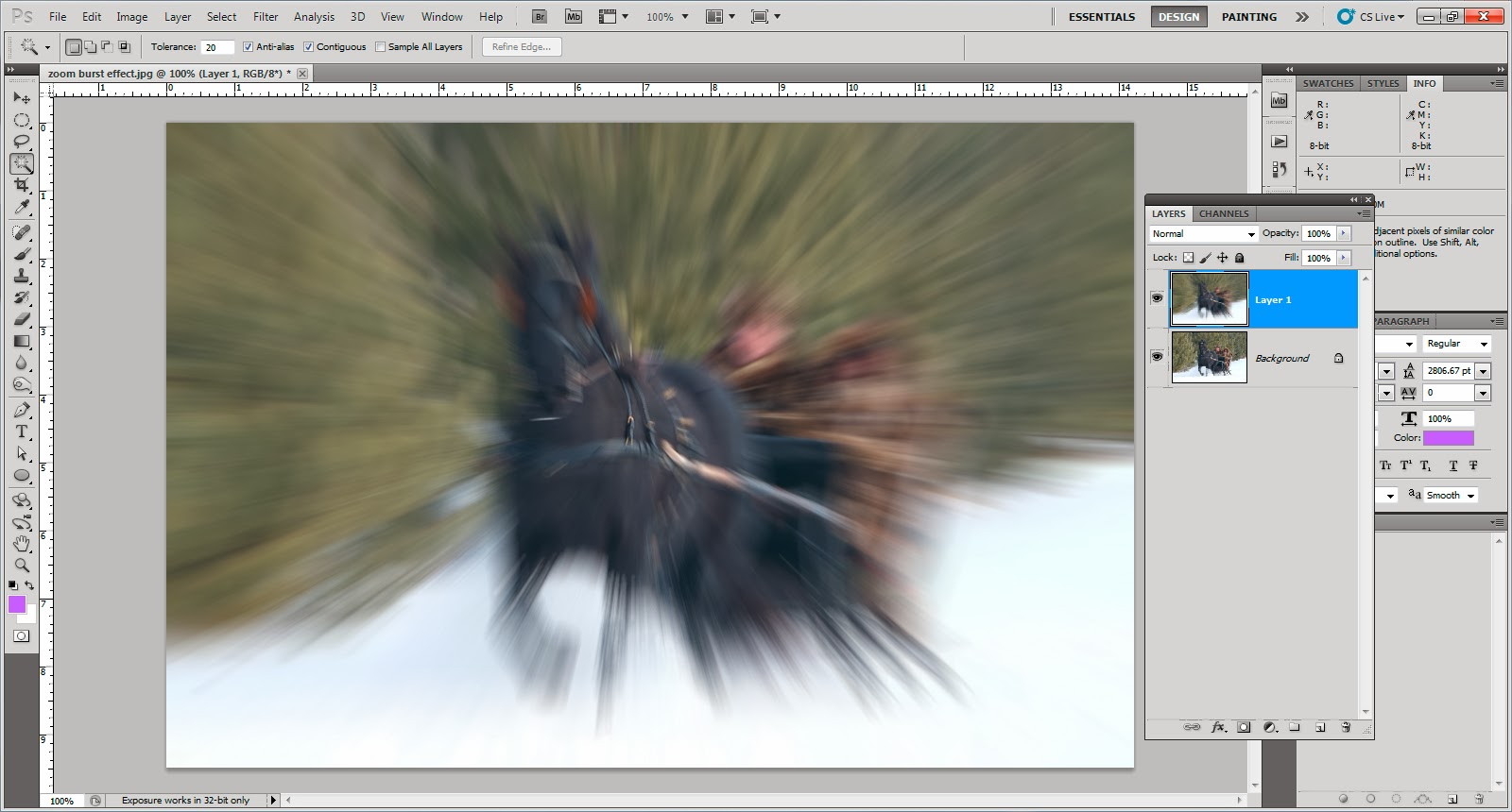 Photography tips zoom burst effect in photography ccuart Image collections