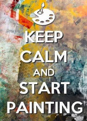 Keep calm and start painting. quotes