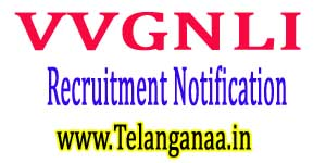VVGNLI Recruitment Notification 2017