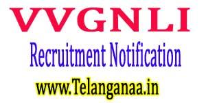 VVGNLI Recruitment Notification 2017