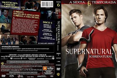 Sobrenatural 6º Temporada Completa DVD Capa