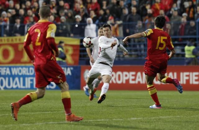 Montenegro 1-2 Polonia en las eliminatorias de Europa para Rusia 2018