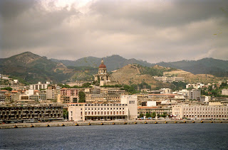 The waterfront at Messina, with the colossal church  of Christ the King dominating the scene