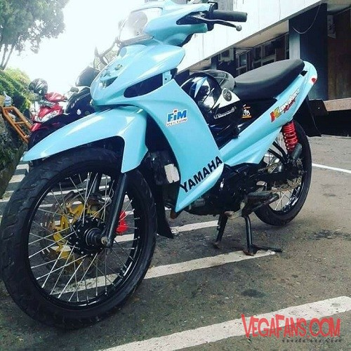 Vega ZR Modif Road Race Biru Muda