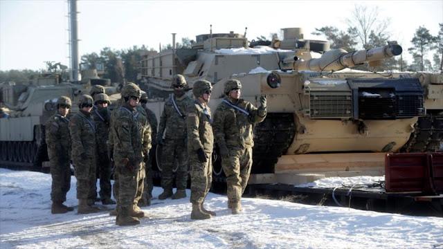 EEUU despliega tanques en Letonia para acercarse más a Rusia