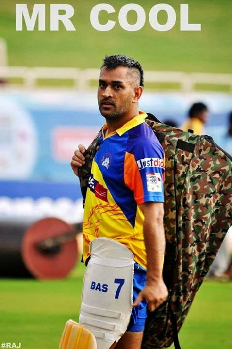 Captain Cool Dhoni In New Super Cool Hairstyle Wallpapers