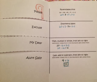 Fold it up for students to reference when practicing order of operations.