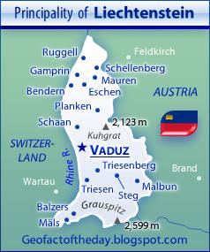 Detailed Liechtenstein map