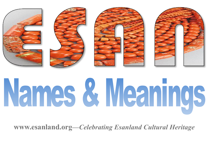 ESAN NAMES AND MEANINGS