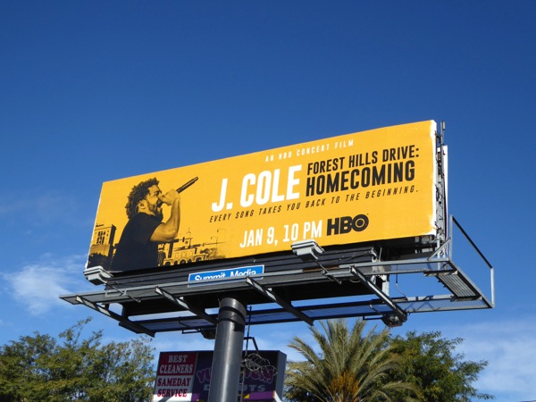 J Cole Homecoming billboard