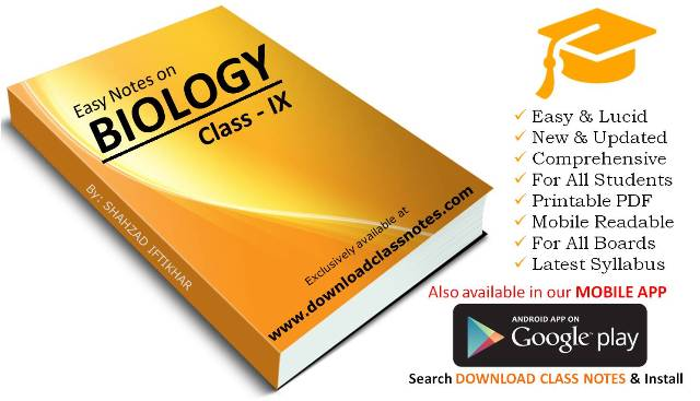 Download 9th Class Biology Notes (Unit # 3) for Federal Board (FBISE) Islamabad